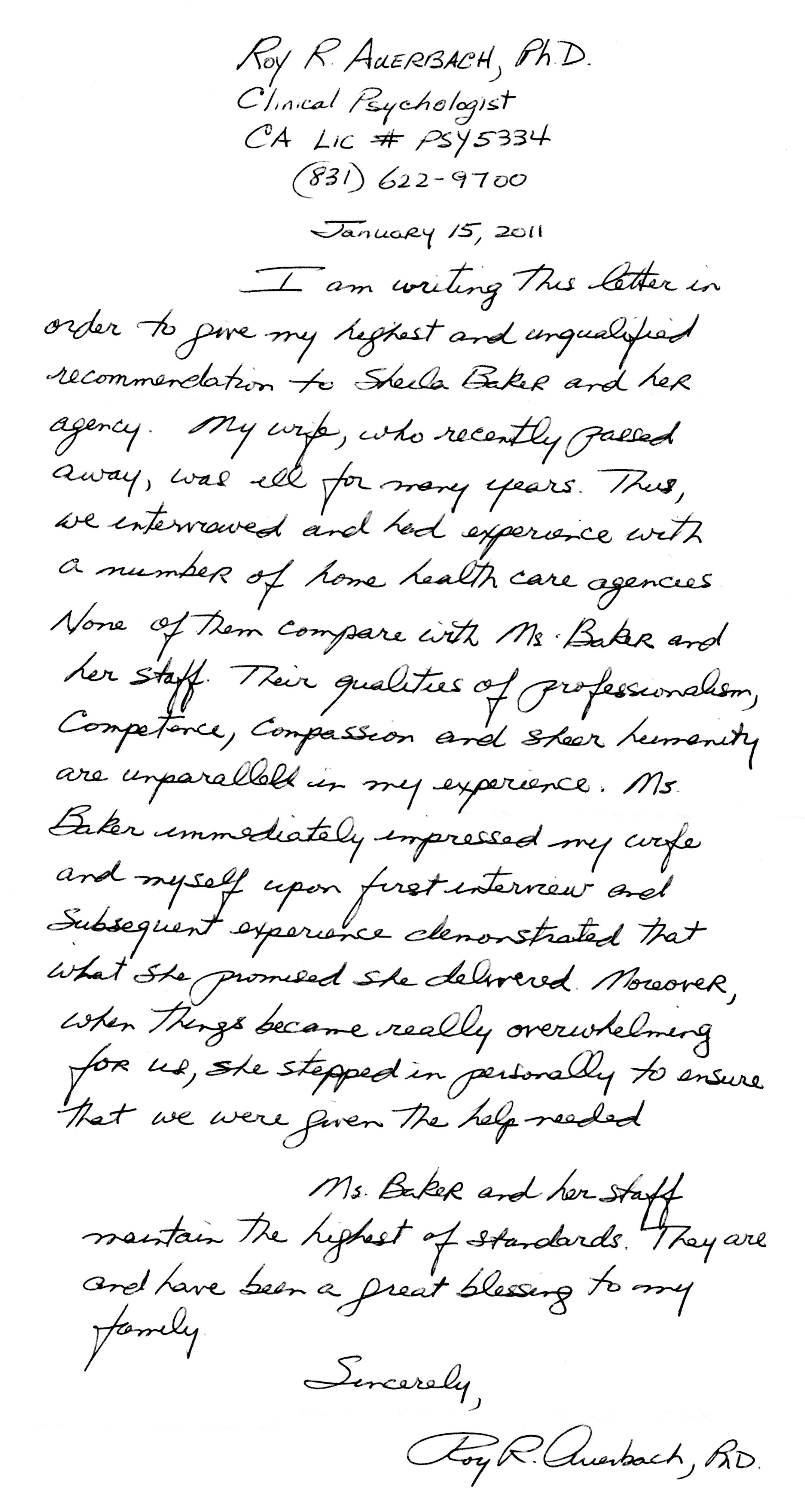 Roy Auerbach Letter 2011 g